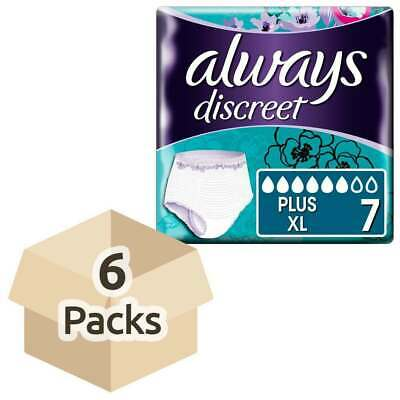 Always Discreet Incontinence Pants Plus - XLarge - 4 Packs of 7