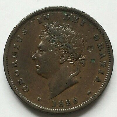 George IV Penny 1826  quite high grade