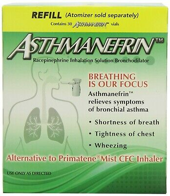 Asthmanefrin Asthma Medication Refill, 30 Count Expiration July 2020