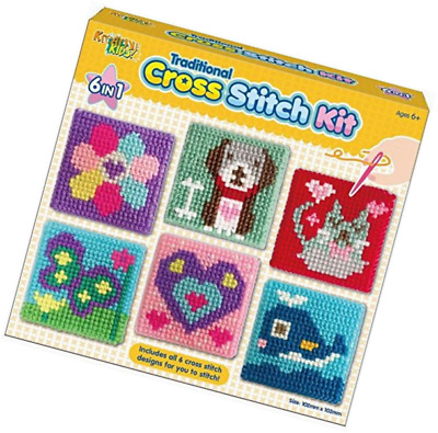 Kreative Kids Set Of 6 Cross Stitch Boards For Children Tapestry Sewing Craft
