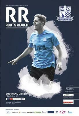 * 2018/19 - Southend United Home Programmes - Choose From List *