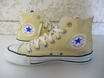 CONVERSE ALL STAR MADE in USA toile jaune vintage pointure