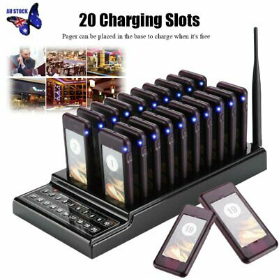 20 Wireless Restaurant Coaster Pager Guest Call Paging Queuing Calling System OF