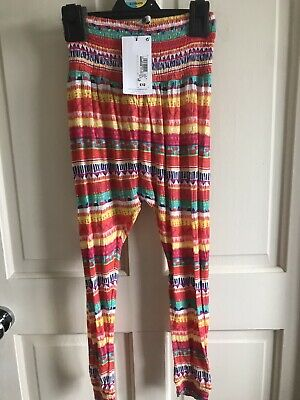 BNWT M&S Harem Trousers/ Leggings. Girls. Age 6 - 11 Years. Funky/ Bright Design