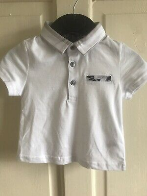 BNWOT River Island Collared T-Shirt. Boys. White. Age 0 - 24 Months