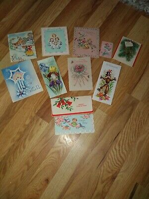 11 Assorted Greeting Cards From The 40s And 50s Not Used
