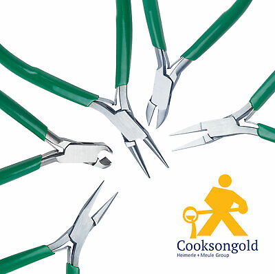 Cooksongold Jewellery Making Beading Pliers, Flat Nose, Chain Nose and More