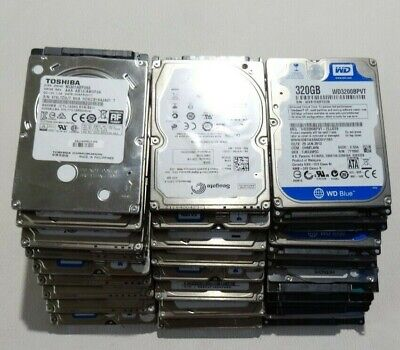 100% Tested Working Mixed Brands Laptop HDD Hard Disk Drive 250GB 320GB 500GB