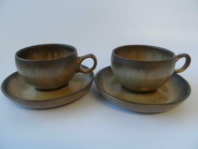 Denby Romany 2 X Cups And Saucers