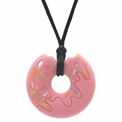 Sensory Oral Motor Aide Chew Necklace for Kids Girls Adults, Silicone Donut