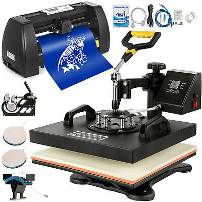 "5in1 Heat Press 15""x15"" Vinyl Cutter Plotter 14"" Pattern Swing Away Usb Port"