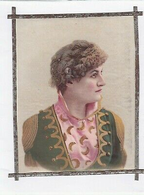 ANTIQUE 1800s LADY CAMEO PICTURE PAPER PRINT GERMAN DRESDEN FRAME.*