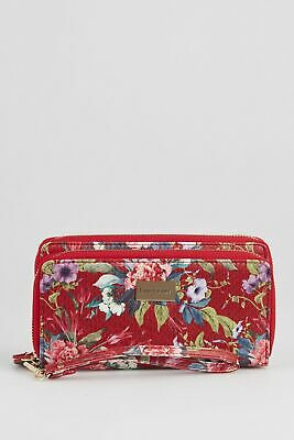 New Laura Jones Floral Double Zip Large Womens Purse Wallet Large by-Strandbags