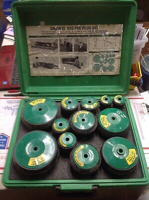 """Greenlee 859 pvc plug set 2""""-6"""" with carry case #7195A"""