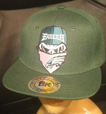 14726052 Philadelphia Eagles Flat Bill Hat Adjustable Green Punisher Snapback Ball  Cap