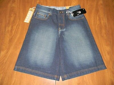 Indigo 30 Boys Size 18 Denim Blue Jean Distressed Shorts NWT