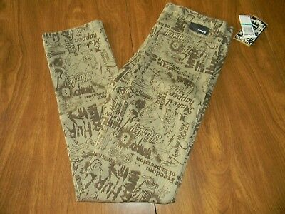 Hurley Boys Size 18 Mens Size 31 Brown Sandstone Skinny Jeans NWT
