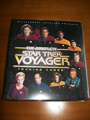 The Complete Star Trek Voyager, base set, chase cards, full autographs & binder