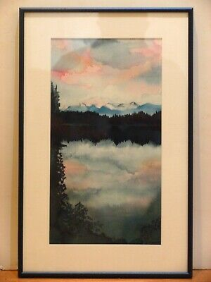 Signed Anne Original Watercolor Painting