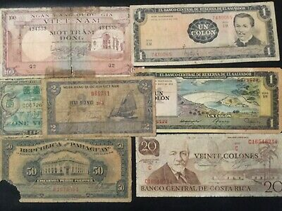 World Paper Money - Lot Of 28 Banknotes With Problems!