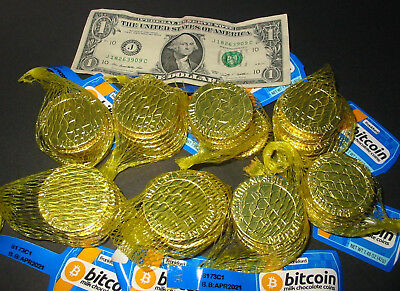56 Candy Bitcoin Chocolate Coins Bitcoins Cryptocurrency BTC Crypto Miner Gift