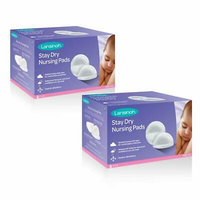 Lansinoh Stay Dry Disposable Nursing Pads, 100 Count (Pack of 2) - D429