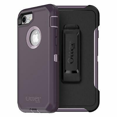 OtterBox Defender Series Durable Case WITH CLIP Apple iPhone 8 7 PURPLE NEBULA
