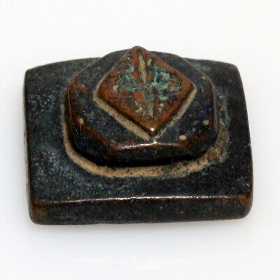 Byzantine Bronze mount Weight with Engraved cross on the top Circa 500-700 AD