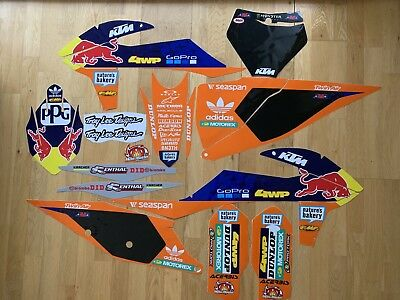 Ktm Sx Sxf Xc Xcf  2019-2020 Full Orange Graphic Sticker Kit
