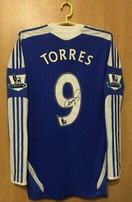 Fc Chelsea 2011/2012 Match Worn Home Football Shirt Jersey Signed L/S Torres #9