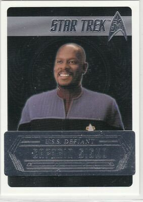 Star Trek 50th Anniversary [2017] Starfleets Captains Chase Card C4 Capt Sisko