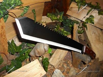 Survivor/Combat machete/Sword/Bowie/Knife/Full tang/Wood grip/Survival/Tanto