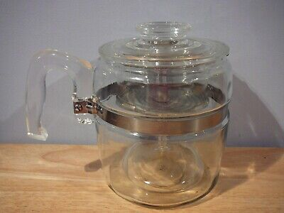 Vintage Pyrex Coffee Pot Percolator 6 cup 7756 Complete