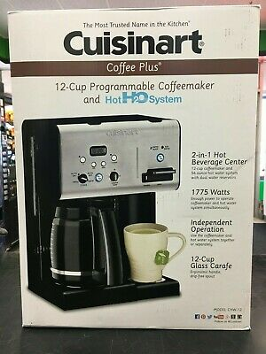 Cuisinart CHW-12 Cup Programmable Coffee Maker Hot Water Black/Stainless Steel