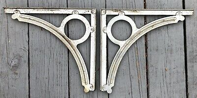 Old Antique Vintage Heavy Duty Industrial Shelf Brackets