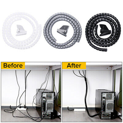 Spiral Wire Wrap Tube Management Cable Organizer Cord Protector Storage Pipe