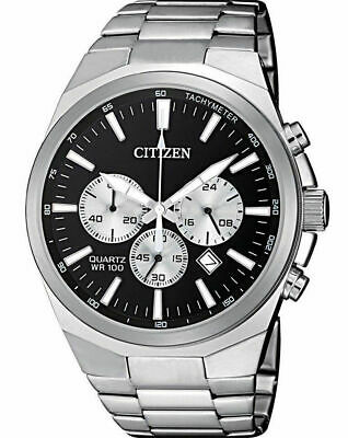 6d468c010 CITIZEN AN8170-59E Chronograph Black Dial Quartz Stainless Steel 100m Mens  Watch