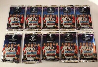 Topps Match Attax Champions League 18/19 Trading Cards - 10 Pack - New & Sealed