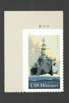 5392 USS Missouri (BB-63) Single With Plate Number Mint/nh Free Shipping