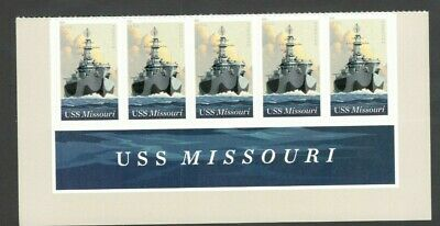 5392 USS Missouri (BB-63) Header With 5 Stamps Mint/nh Free Shipping