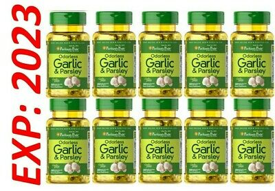 Garlic Parsley Odorless 10X100=1000 Gel Cholesterol Health antioxidant Wholesale