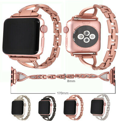 New Stainless Steel Wrist iWatch Band Strap For Apple Watch Series1~4 Rhinestone
