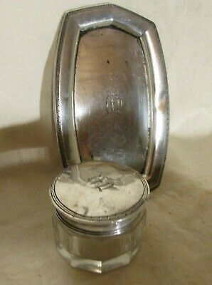 Sterling Pin Tray, Small Sterling Jar With Lid, From Dresser Set