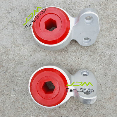 Pair Front Lower Control Arms Bushing Kit Red for BMW E46 323i 325i 328i 330Ci