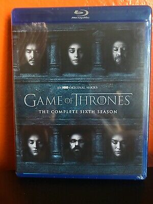 Game Of Thrones: The Complete Sixth Season Blu-Ray + Digital New Free Shipping