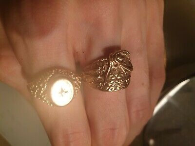 9ct Gold Rings, Diamond and Saddle Ring
