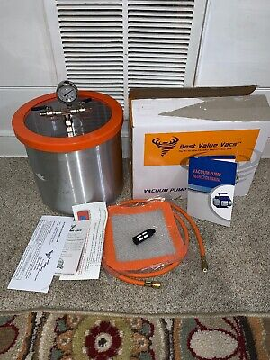 Best Value Vacs 3 Quart Pyrex Vacuum and Degassing Chamber & Pump Kit
