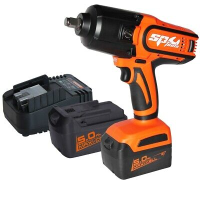 "Impact Wrench 18V Cordless 1/2"" High Torque Lithium Ion Battery Charger SP81130"
