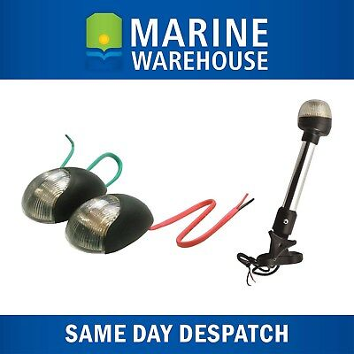 Navigation Light Kit - LED Side Lights W/ LED Folding Anchor Light 235mm 705132