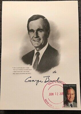 George Bush NEW Stamp First Day Issue Artcraft FDC - Yale Univ New Haven, CT